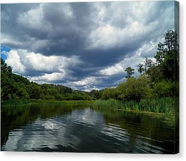 Monsoon Sky Canvas Print by Feva  Fotos