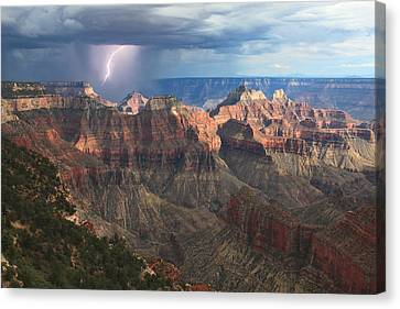 Grand Canyon National Park Canvas Print - Monsoon Sunset by Mike Buchheit