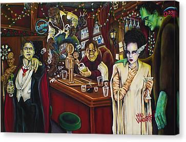 Monster Bar By Mike Vanderhoof Canvas Print by Mike Vanderhoof