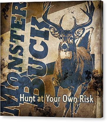 Monster Buck Deer Sign Canvas Print by JQ Licensing