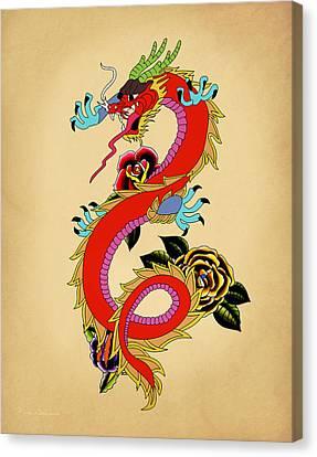 Caricature Canvas Print - Monster Dragon  by Mark Ashkenazi