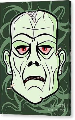 Monster Head Canvas Print by Martin Capek