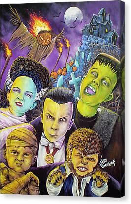 Monster Kids Canvas Print by Mike Vanderhoof