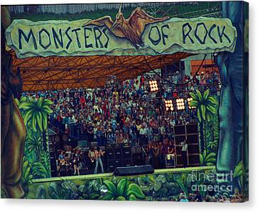 Monsters Of Rock Stage While A C D C Started Their Set - July 1979 Canvas Print by Daniel Larsen