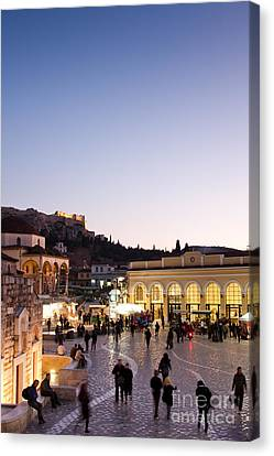 Monstiraki Square Canvas Print