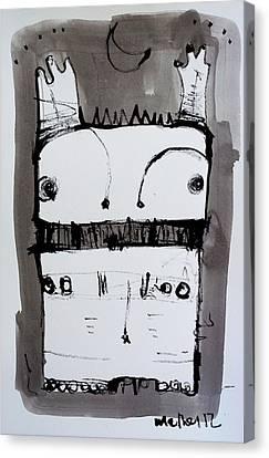 Sumi Ink Canvas Print - Monstra No. 1 by Mark M  Mellon
