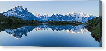 Mont Blanc Massif Panorama Canvas Print by Mircea Costina Photography
