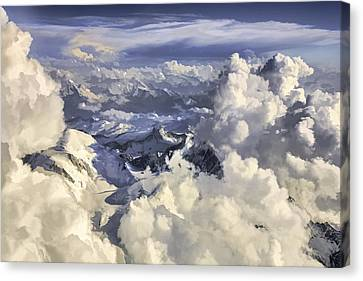 Canvas Print featuring the painting Mont Blanc by Muhie Kanawati
