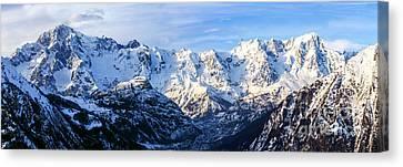 Mont Blanc View  Canvas Print