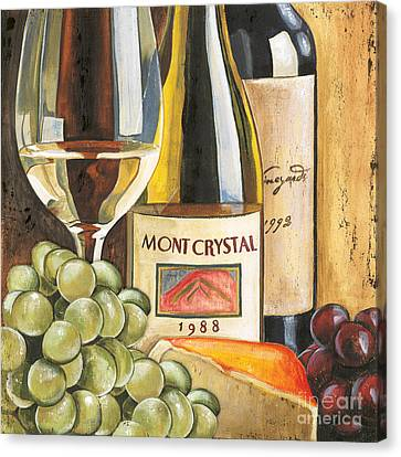 Grapes Canvas Print - Mont Crystal 1988 by Debbie DeWitt