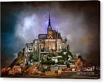 Mont Saint Michel   Canvas Print by Andrzej Szczerski