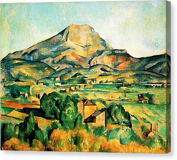 Mont Sainte-victoire Seen From Bellevue Canvas Print by Paul Cezanne