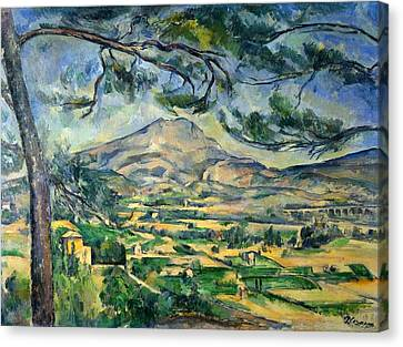 Mont Sainte-victoire With Large Pine Canvas Print by Paul Cezanne
