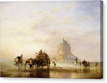 Mont St Michel Canvas Print by Edward William Cooke