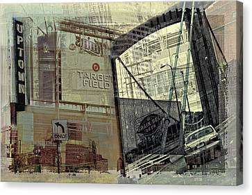 Montage Of Minneapolis Canvas Print by Susan Stone