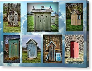 Montage Of Outhouses Canvas Print
