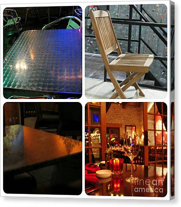 Montage Tables And Chairs Canvas Print