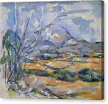 Montagne Sainte-victoire, 1890-95 Oil On Canvas Canvas Print by Paul Cezanne