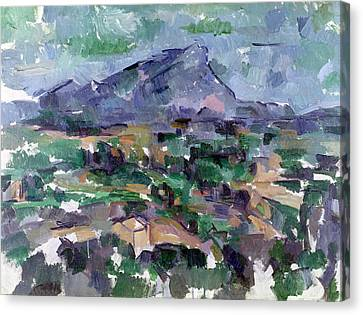 Montagne Sainte-victoire Canvas Print by Paul Cezanne
