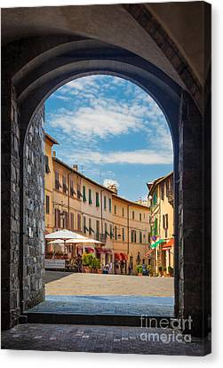 Montalcino Loggia Canvas Print by Inge Johnsson