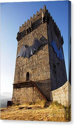 Montalegre Castle Canvas Print by Carlos Caetano