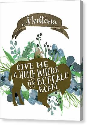 Montana Blue Buffalo Canvas Print by Tara Moss