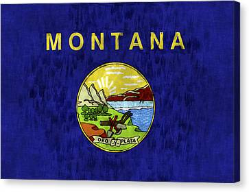 Montana Flag Canvas Print by World Art Prints And Designs