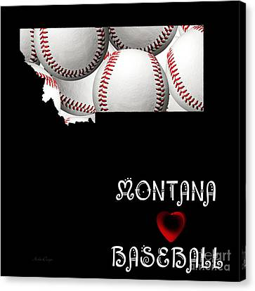Montana Loves Baseball Canvas Print by Andee Design
