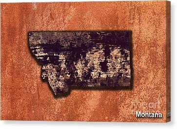 Montana Map Canvas Print by Marvin Blaine