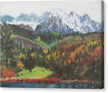 Montana Mountains In The Fall Canvas Print