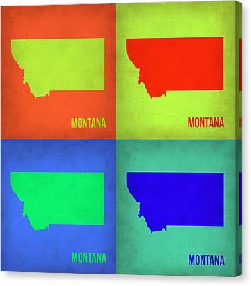 Montana Pop Art Map 1 Canvas Print by Naxart Studio