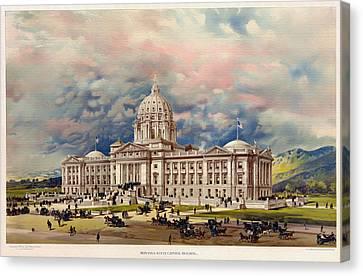Montana State Capitol - 1896 Canvas Print