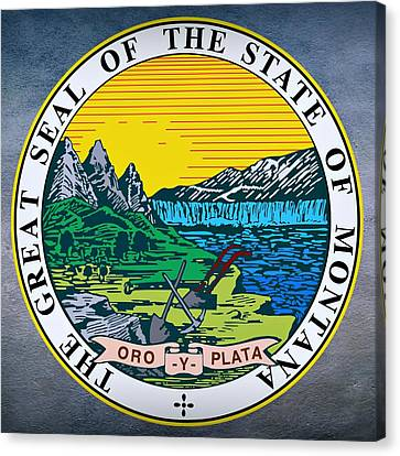 Montana State Seal Canvas Print by Movie Poster Prints