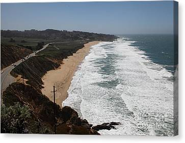 Montara State Beach Pacific Coast Highway California 5d22621 Canvas Print by Wingsdomain Art and Photography