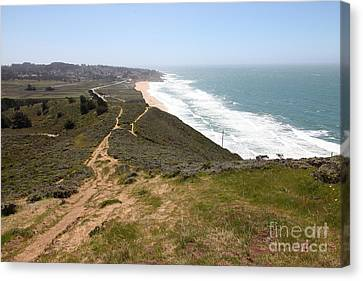 Montara State Beach Pacific Coast Highway California 5d22633 Canvas Print by Wingsdomain Art and Photography