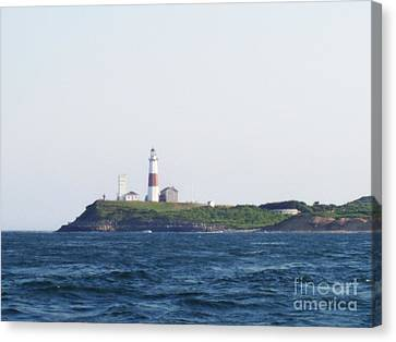 Montauk Lighthouse From The Atlantic Ocean Canvas Print