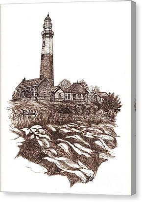 Montauk Lighthouse Long Island  N Y Canvas Print by Carol Wisniewski