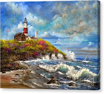 Montauk Lighthouse Canvas Print by Patrice Torrillo