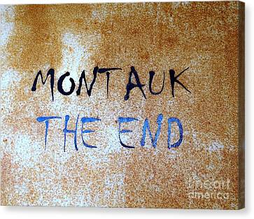 Montauk-the End Canvas Print by Ed Weidman