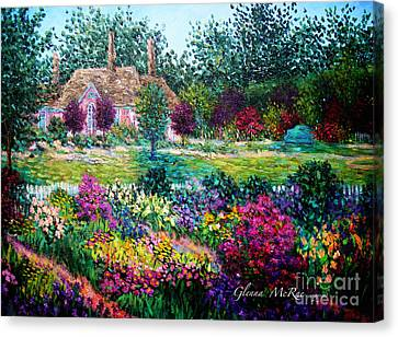 Montclair English Garden Canvas Print by Glenna McRae