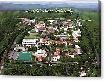 Montclair State University Canvas Print by Rhett and Sherry  Erb