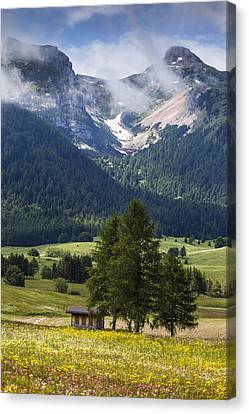 Monte Bondone Canvas Print by Alfio Finocchiaro