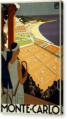 South Of France Canvas Print - Monte Carlo 1930 by Georgia Fowler