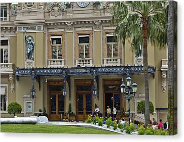 Canvas Print featuring the photograph Monte Carlo Casino by Allen Sheffield