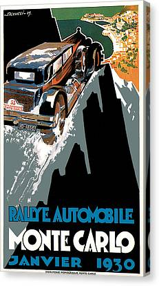 Monte Carlo - Vintage Poster Canvas Print by World Art Prints And Designs