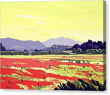 Monte San Quirico, Lucca, 2003 Gouache On Paper Canvas Print by Derek Crow