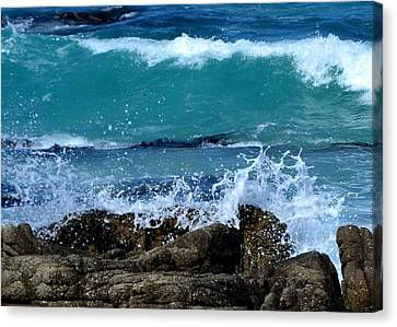 Canvas Print featuring the photograph Monterey-3 by Dean Ferreira