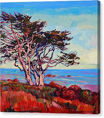Monterey Diptych Right Panel Canvas Print by Erin Hanson