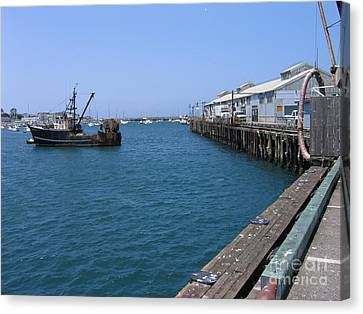 Monterey Municipal Wharf Canvas Print by James B Toy