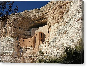 Canvas Print featuring the photograph Montezuma Castle by Penny Meyers